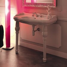 "Kerasan Retro 39.4"" Single Console Bathroom Vanity Set"