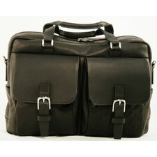 LaRomana Compact Leather Laptop Briefcase