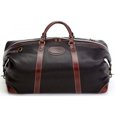 "LaRomana 22"" Leather Expandale Travel Duffel"