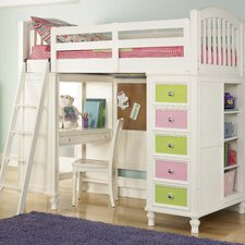 <strong>Build-A-Bear by Pulaski</strong> Pawsitively Yours Twin Loft Bed with Desk and Storage