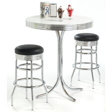 Retro Pub Table with Optional Stools