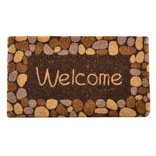 Welcome River Rocks Coir Doormat