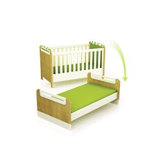 "Funktionales Kinderbett ""First"" in Creme / Eiche"