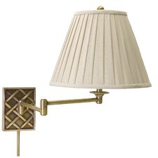Decorative Basket Swing Arm Wall Light