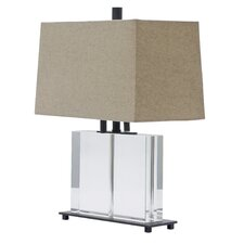 "Marquis 19"" H Rectangular Crystal Table Lamp"