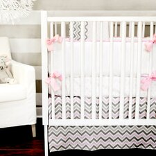 Peace, Love and Pink 4 Piece Crib Bedding Set