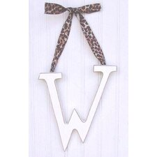 "9"" Hand Painted Hanging Letter - W"