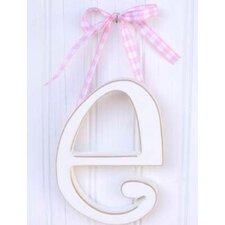"9"" Hand Painted Hanging Letter - E"