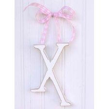 "9"" Hand Painted Hanging Letter - X"