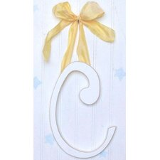 "9"" Hand Painted Hanging Letter - C"