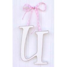 "9"" Hand Painted Hanging Letter - U"