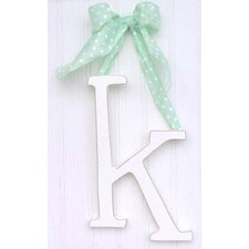 "9"" Hand Painted Hanging Letter - K"