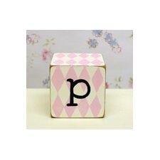 """p"" Letter Block"