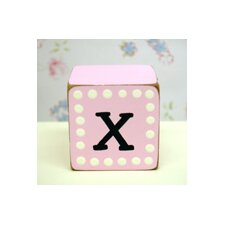 "<strong>New Arrivals</strong> ""x"" Letter Block in Pink"