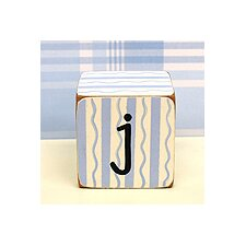 """j"" Letter Block in Blue"