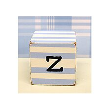 """z"" Letter Block in Blue"