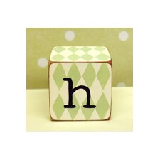 """h"" Letter Block in Green"
