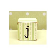 """j"" Letter Block in Green"