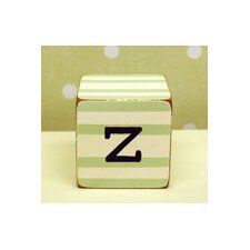 """z"" Letter Block in Green"