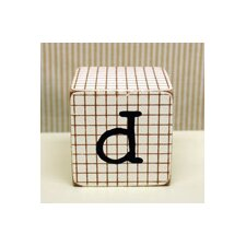 """d"" Letter Block in Chocolate"