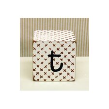 """t"" Letter Block in Chocolate"