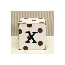 """x"" Letter Block in Chocolate"