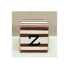 """z"" Letter Block in Chocolate"