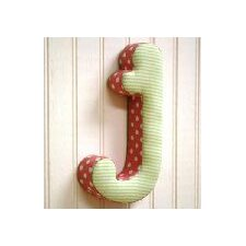 "<strong>New Arrivals</strong> ""j"" Fabric Letter in Pink / Green"