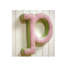 "<strong>New Arrivals</strong> ""p"" Fabric Letter in Pink / Green"