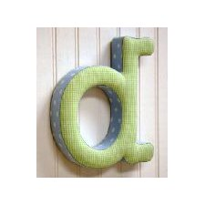 "<strong>New Arrivals</strong> ""d"" Fabric Letter in Blue / Green"
