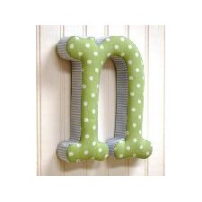 """n"" Fabric Letter in Blue / Green"