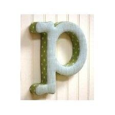 "<strong>New Arrivals</strong> ""p"" Fabric Letter in Blue / Green"