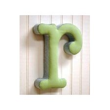"<strong>New Arrivals</strong> ""r"" Fabric Letter in Blue / Green"