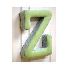 """z"" Fabric Letter in Blue / Green"