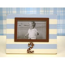 <strong>New Arrivals</strong> Stripe 2nd Birthday Picture Frame