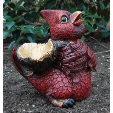Red Bird with Sack on Back Statue