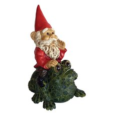 Garrold Gnome On Toad Statue
