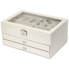 Alana Large Windowed Jewelry Box