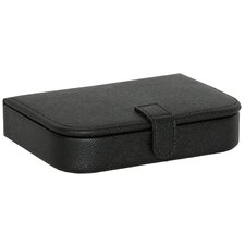 Ryan Men's Faux Leather Cuff Link and Travel Valet
