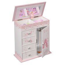 <strong>Mele & Co.</strong> Cristiana Girl's Wooden Musical Ballerina Jewelry Box with Fashion Paper Overlay