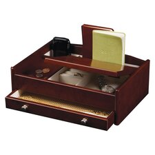 <strong>Mele & Co.</strong> Davin Men's Dresser Top Valet in Burlwood Walnut