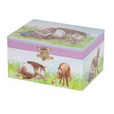 Blossom Girl's Musical Horse Jewelry Box