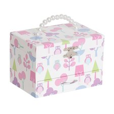 <strong>Mele & Co.</strong> Molly Girl's Musical Ballerina Jewelry Box with Owl Pattern