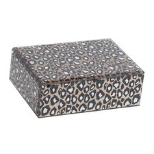 Candy Mirrored Glass Box with Leopard Design