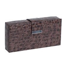Justine Croco Faux Leather Travel Jewelry Case