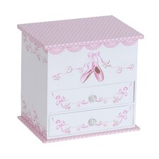April Girl's Musical Ballerina Jewelry Box