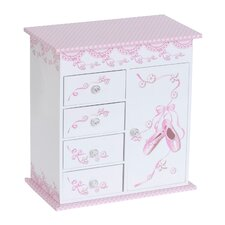 Carly Girl's Musical Ballerina Jewelry Box