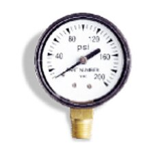 "0-100 PSI, 0.25"" Bottom Pressure Gauge"