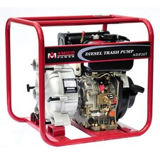 "123.28 GPM Diesel 2"" Trash Water Pump with Recoil Start"