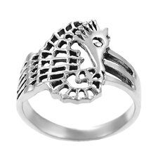 Sterling Silver Sea Horse Ring